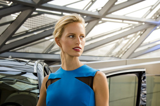 Karolína Kurková and BMW 2er <br>BMW Welt Munich <br>for BMW GROUP
